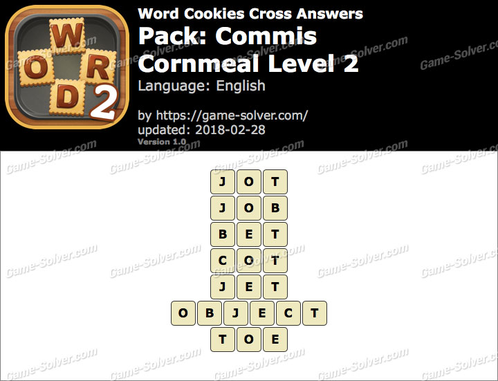 Word Cookies Cross Commis-Cornmeal Level 2 Answers