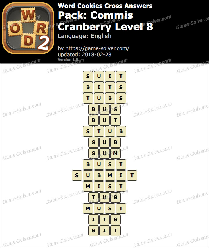 Word Cookies Cross Commis-Cranberry Level 8 Answers