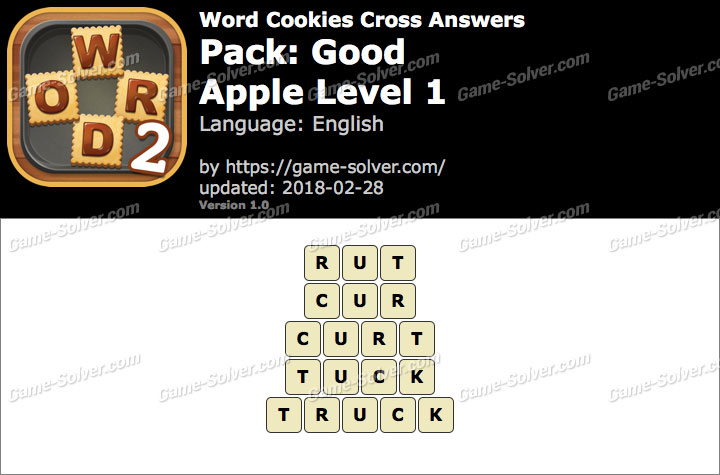Word Cookies Cross Good-Apple Level 1 Answers