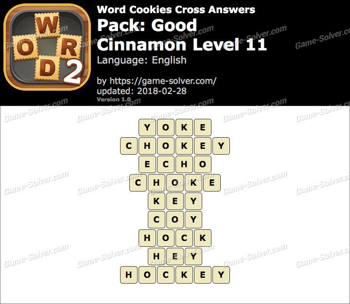 Word Cookies Cross Good-Cinnamon Level 11 Answers