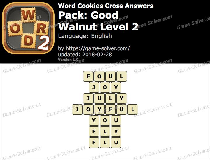 Word Cookies Cross Good-Walnut Level 2 Answers