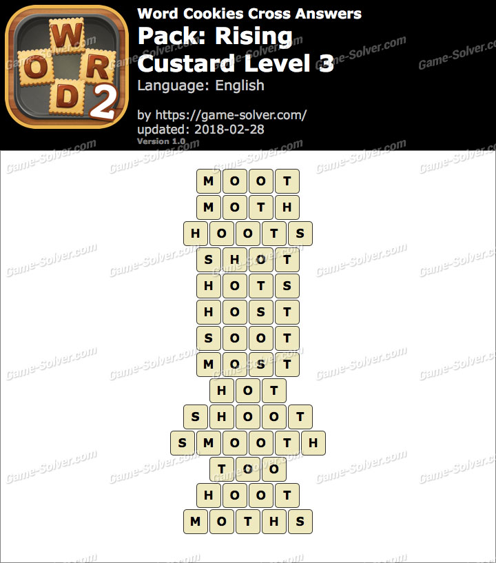Word Cookies Cross Rising-Custard Level 3 Answers