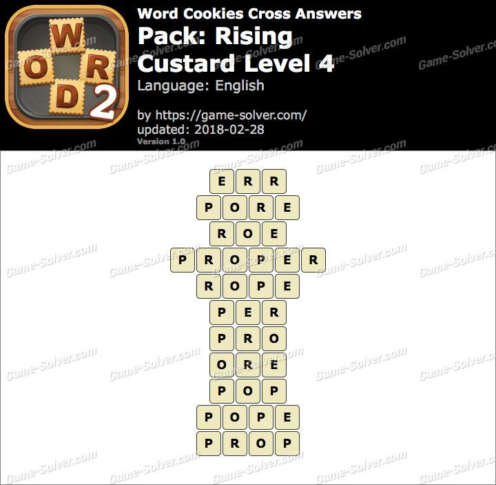 Word Cookies Cross Rising-Custard Level 4 Answers