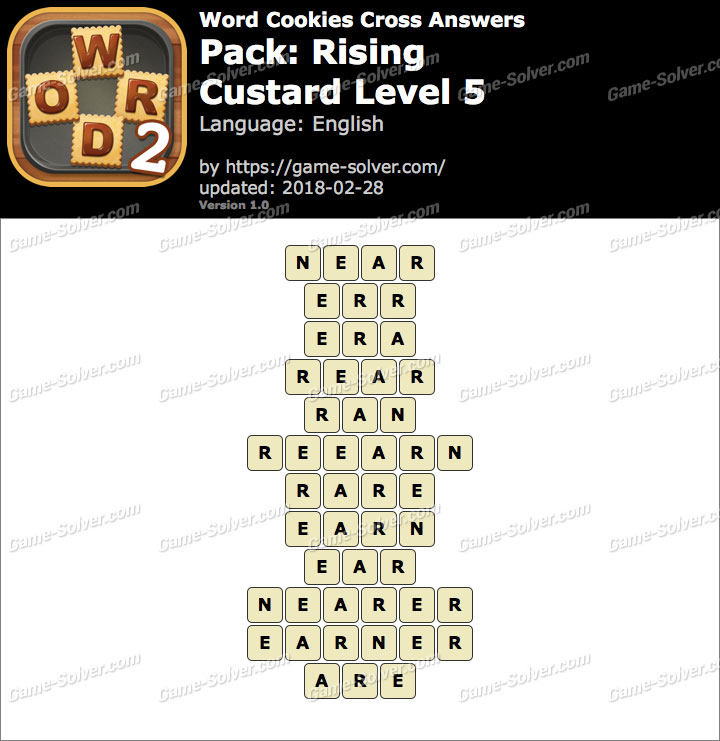 Word Cookies Cross Rising-Custard Level 5 Answers