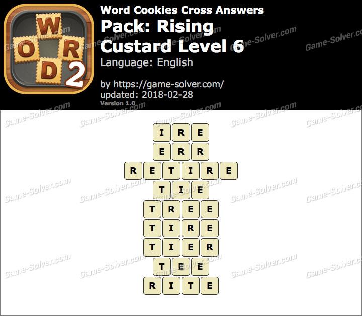 Word Cookies Cross Rising-Custard Level 6 Answers