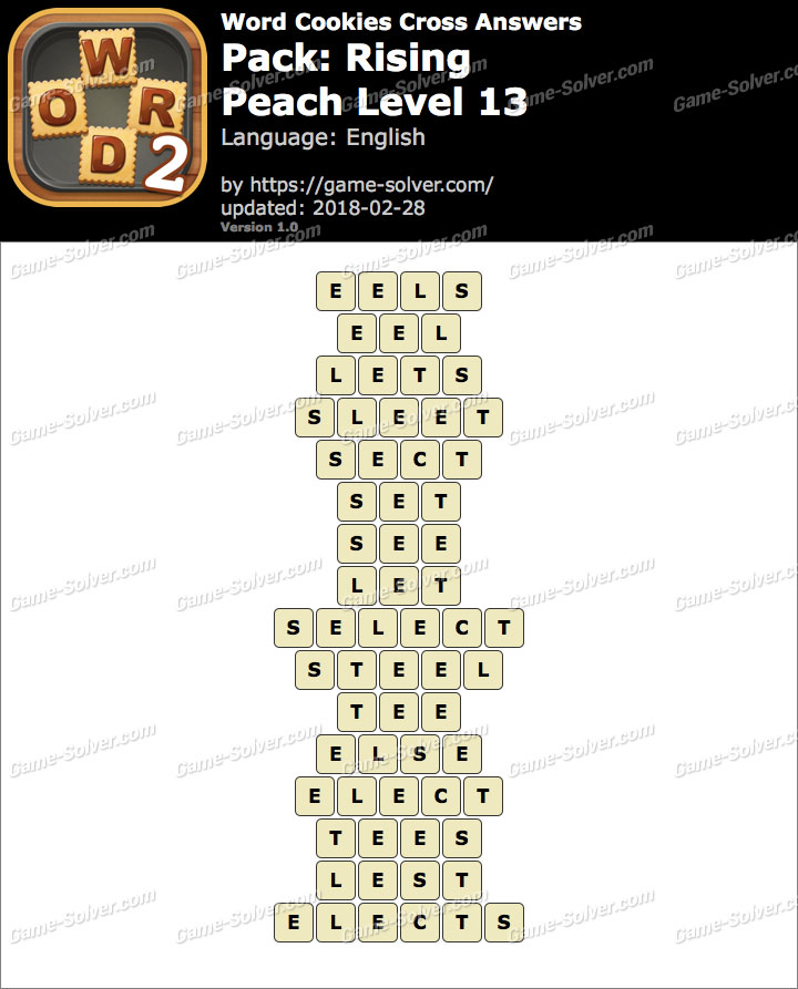 Word Cookies Cross Rising-Peach Level 13 Answers