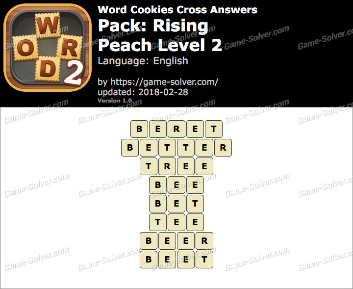 Word Cookies Cross Rising-Peach Level 2 Answers