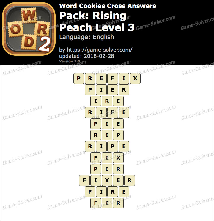 Word Cookies Cross Rising-Peach Level 3 Answers