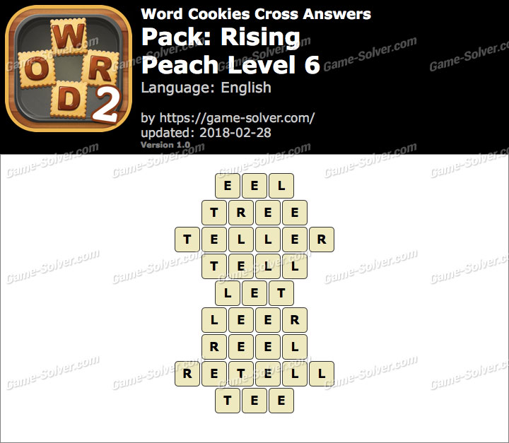 Word Cookies Cross Rising-Peach Level 6 Answers