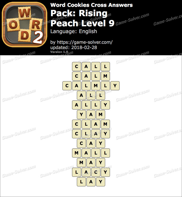 Word Cookies Cross Rising-Peach Level 9 Answers