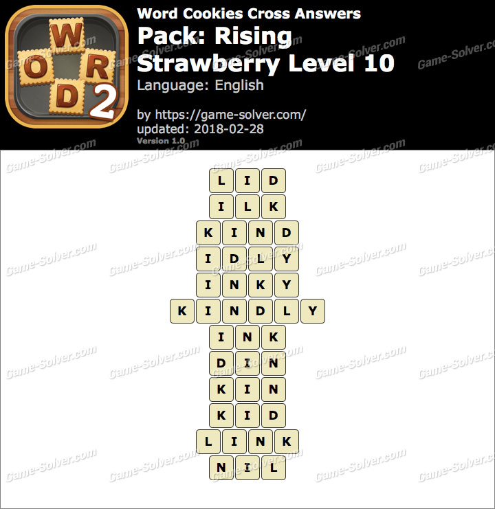Word Cookies Cross Rising-Strawberry Level 10 Answers