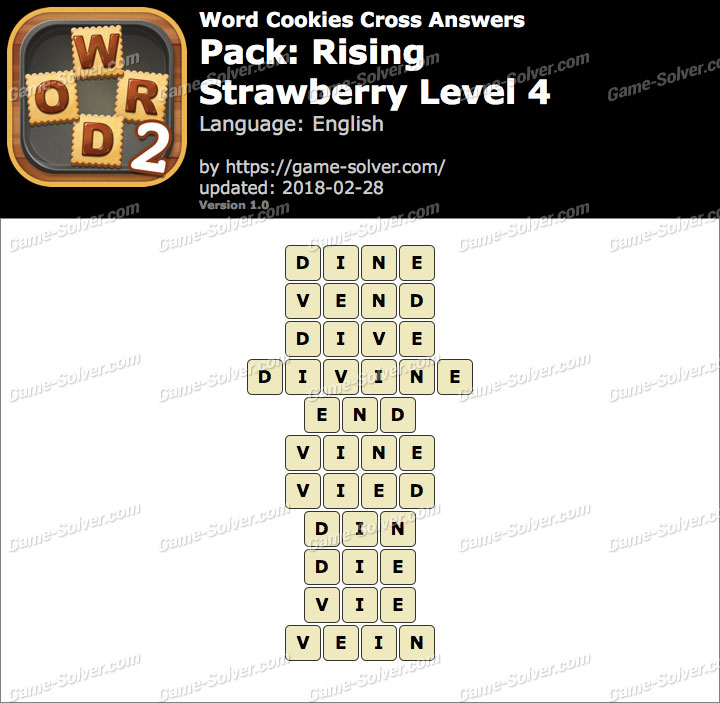 Word Cookies Cross Rising-Strawberry Level 4 Answers