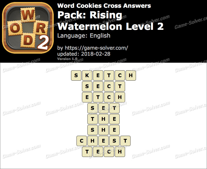 Word Cookies Cross Rising-Watermelon Level 2 Answers