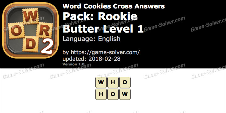 Word Cookies Cross Answers - Game Solver