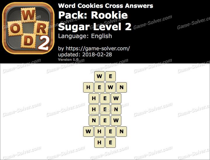 Word Cookies Cross Rookie-Sugar Level 2 Answers