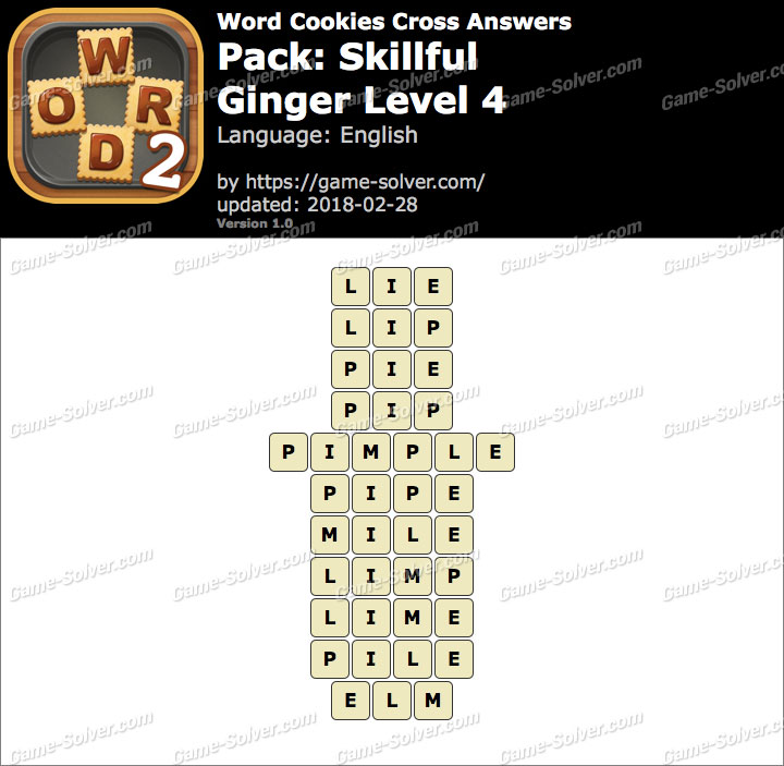 Word Cookies Cross Skillful-Ginger Level 4 Answers