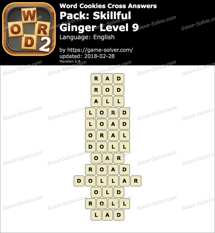 Word Cookies Cross Skillful-Ginger Level 9 Answers