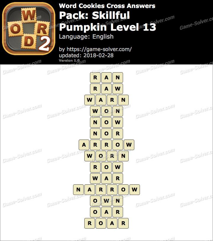 Word Cookies Cross Skillful-Pumpkin Level 13 Answers