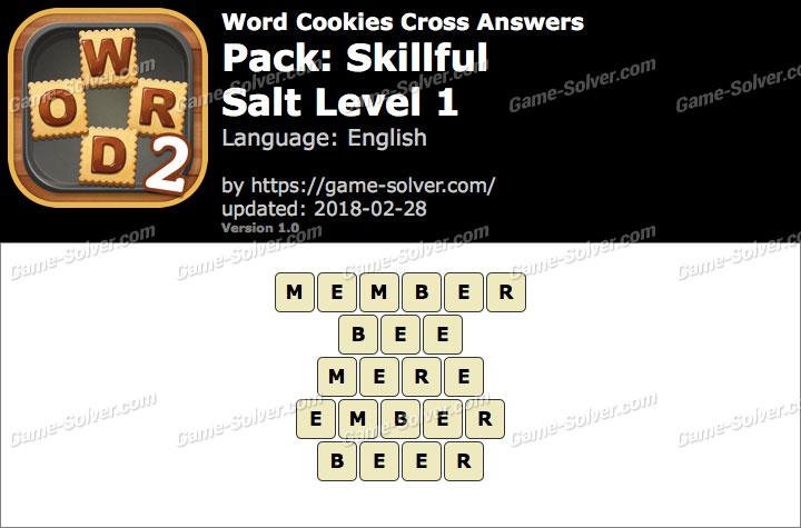 Word Cookies Cross Skillful-Salt Level 1 Answers