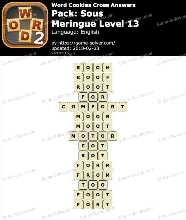 Word Cookies Cross Sous-Meringue Level 13 Answers