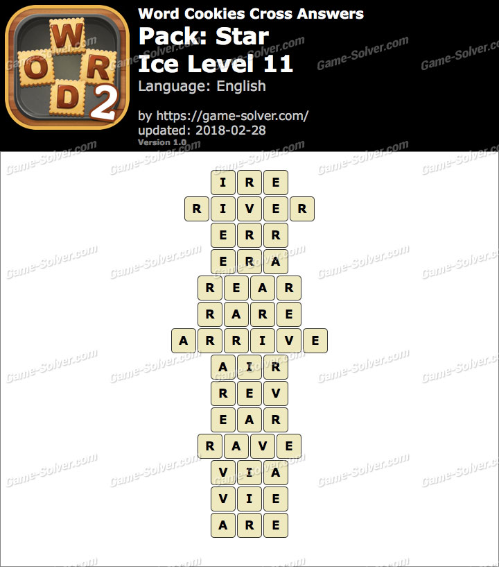 Word Cookies Cross Star-Ice Level 11 Answers