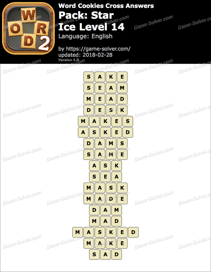 Word Cookies Cross Star-Ice Level 14 Answers