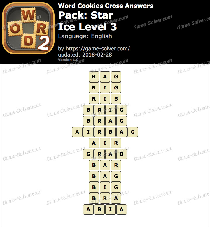 Word Cookies Cross Star-Ice Level 3 Answers