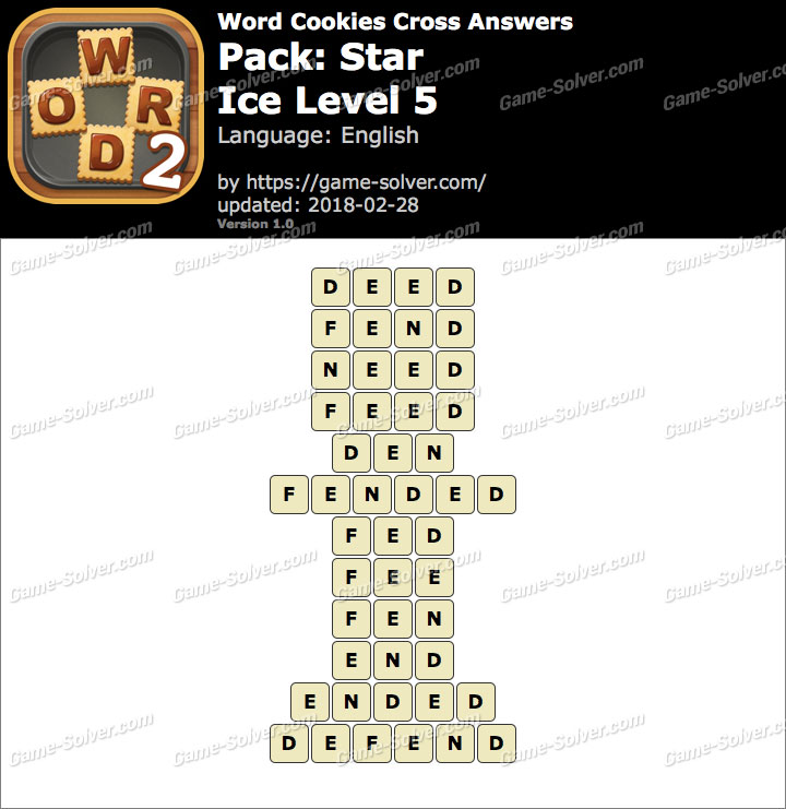 Word Cookies Cross Star-Ice Level 5 Answers