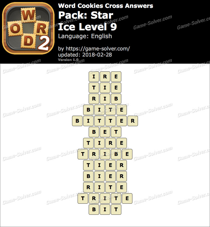 Word Cookies Cross Star-Ice Level 9 Answers