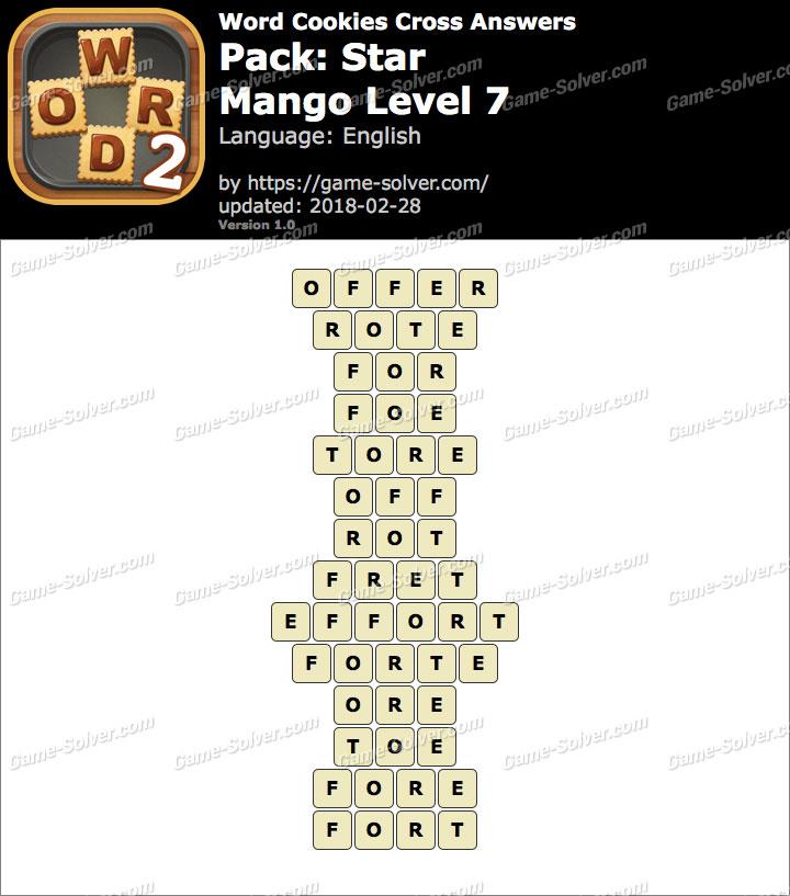 Word Cookies Cross Star-Mango Level 7 Answers