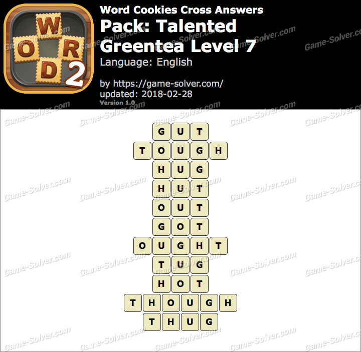 Word Cookies Cross Talented-Greentea Level 7 Answers