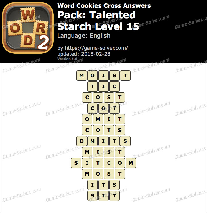 Word Cookies Cross Talented-Starch Level 15 Answers