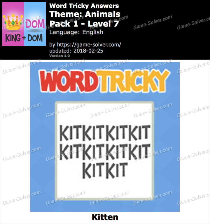 Word Tricky Animals Pack 1-Level 7 Answers
