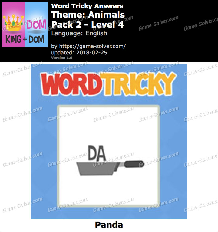 Word Tricky Animals Pack 2-Level 4 Answers