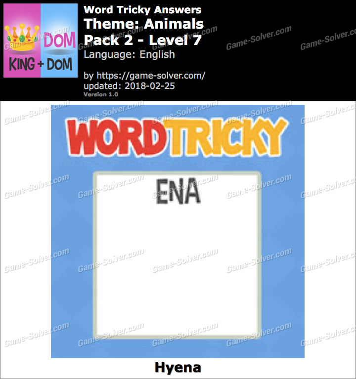Word Tricky Animals Pack 2-Level 7 Answers
