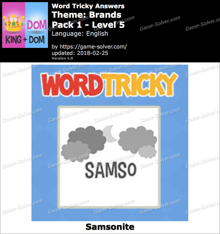 Word Tricky Brands Pack 1-Level 5 Answers