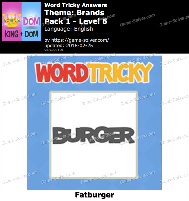 Word Tricky Brands Pack 1-Level 6 Answers