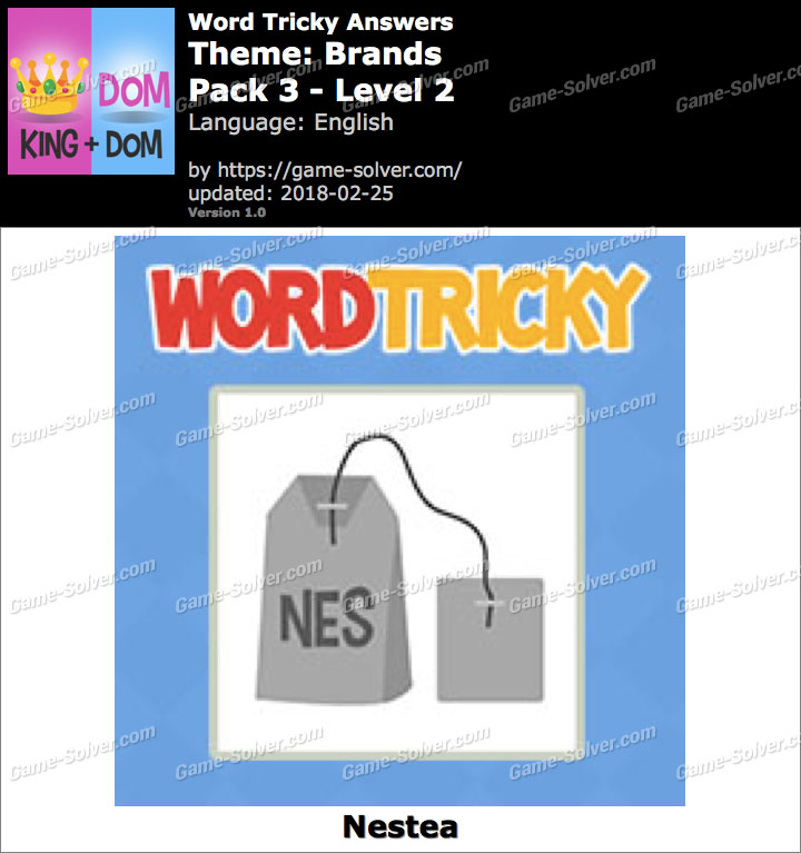 Word Tricky Brands Pack 3-Level 2 Answers
