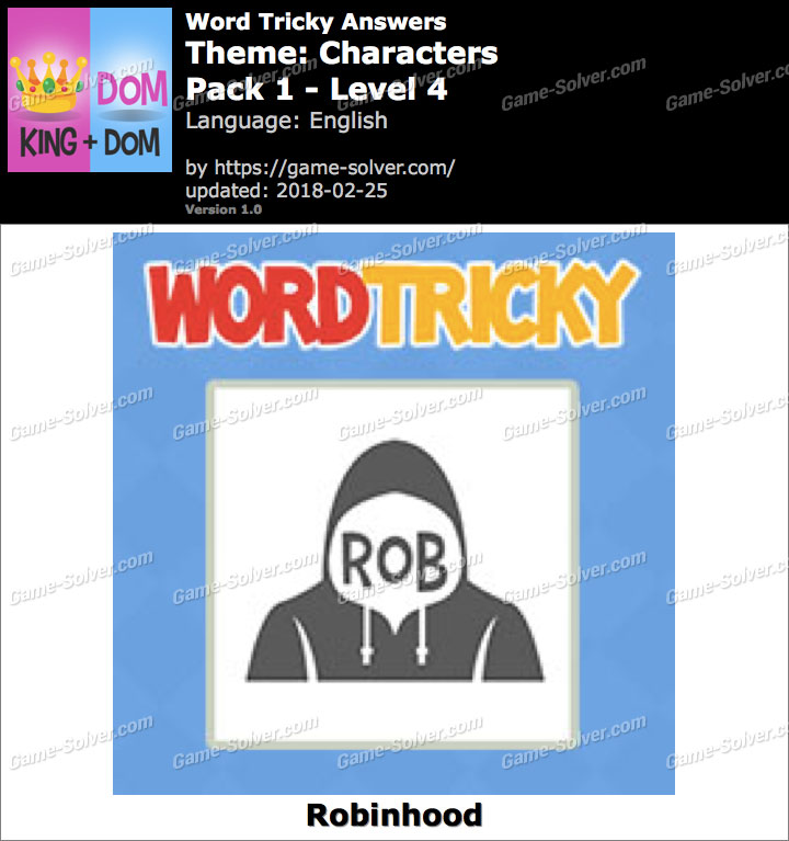 Word Tricky Characters Pack 1-Level 4 Answers