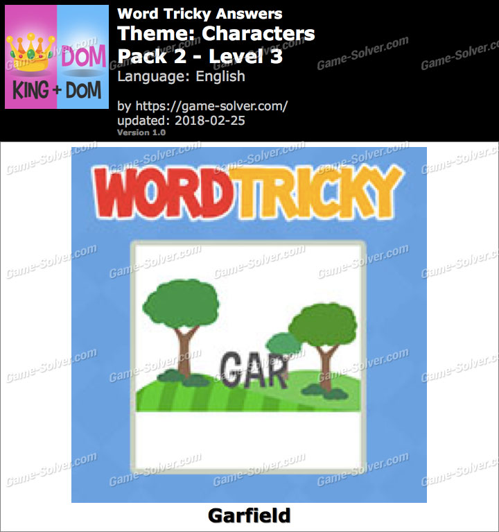 Word Tricky Characters Pack 2-Level 3 Answers
