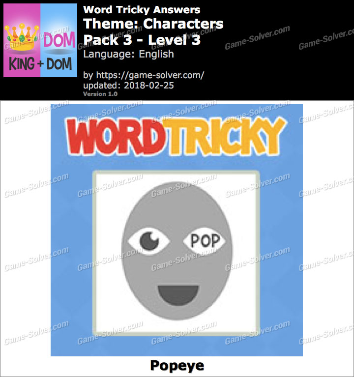 Word Tricky Characters Pack 3-Level 3 Answers