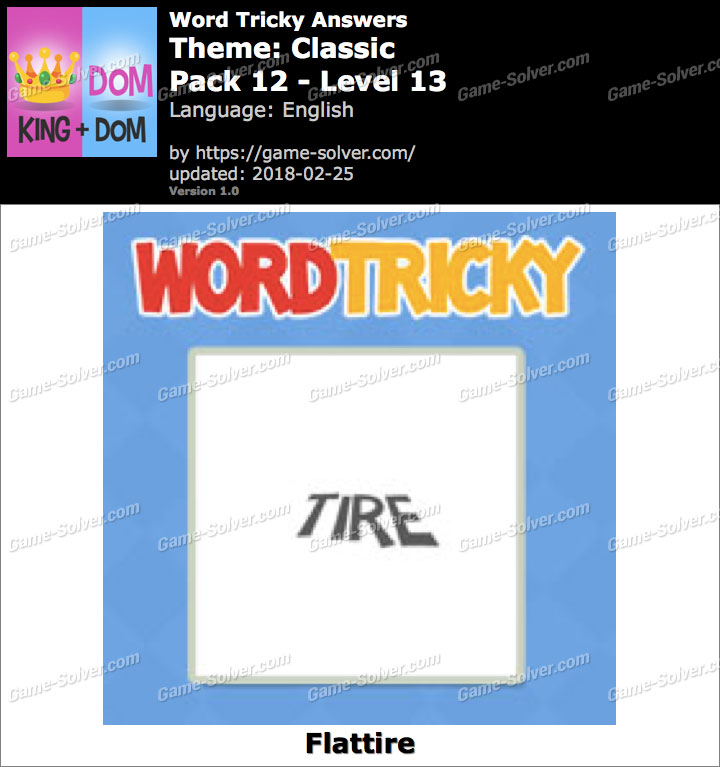 Word Tricky Classic Pack 12-Level 13 Answers