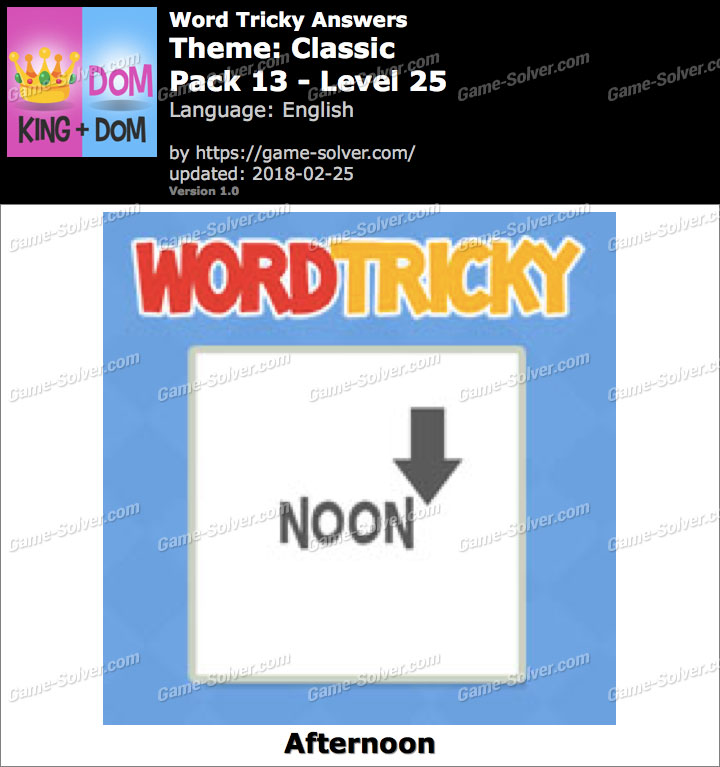 Word Tricky Classic Pack 13-Level 25 Answers