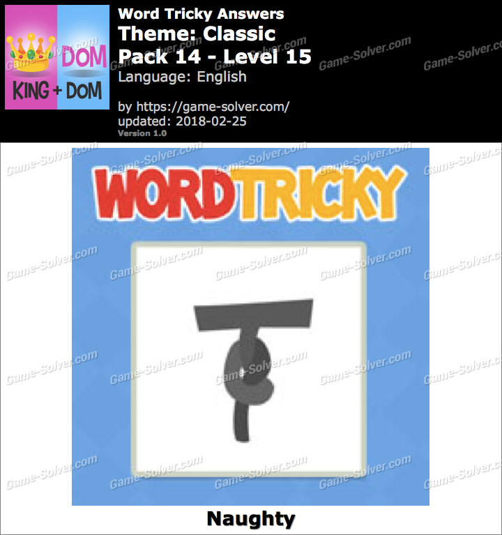 Word Tricky Classic Pack 14-Level 15 Answers