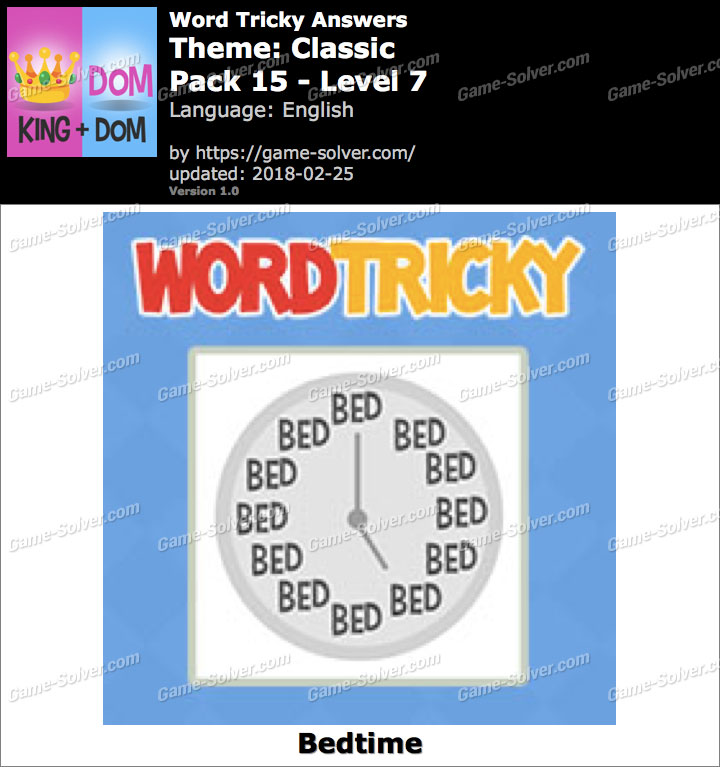 Word Tricky Classic Pack 15-Level 7 Answers