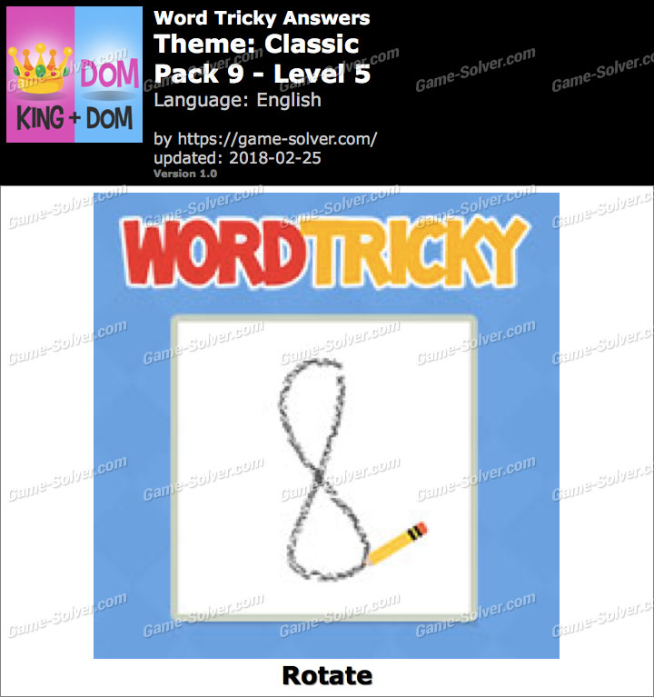 Word Tricky Classic Pack 9-Level 5 Answers