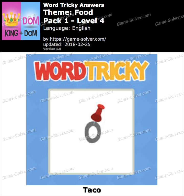 Word Tricky Food Pack 1-Level 4 Answers