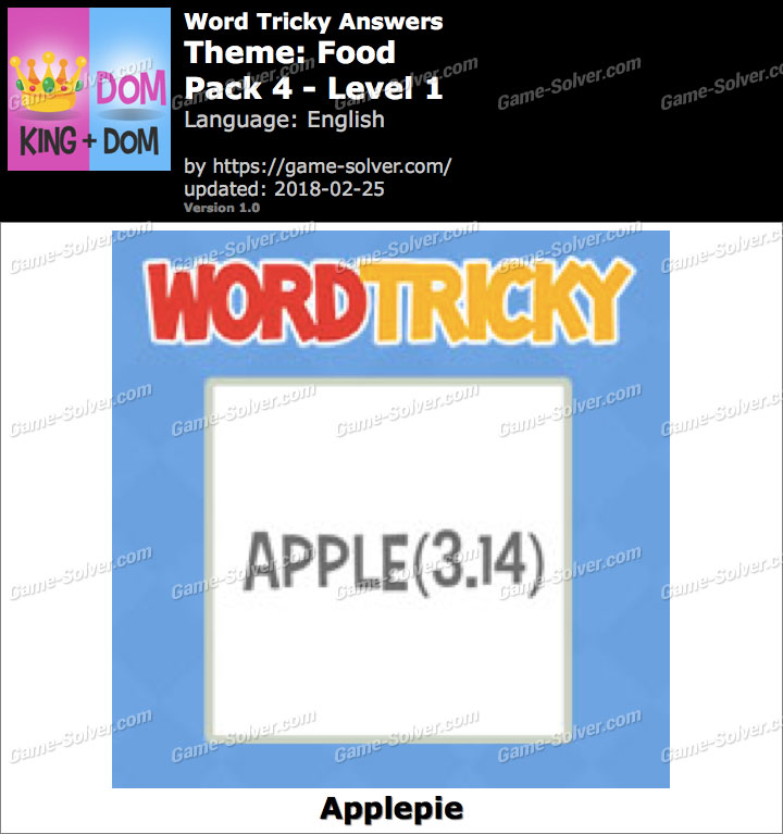Word Tricky Food Pack 4-Level 1 Answers