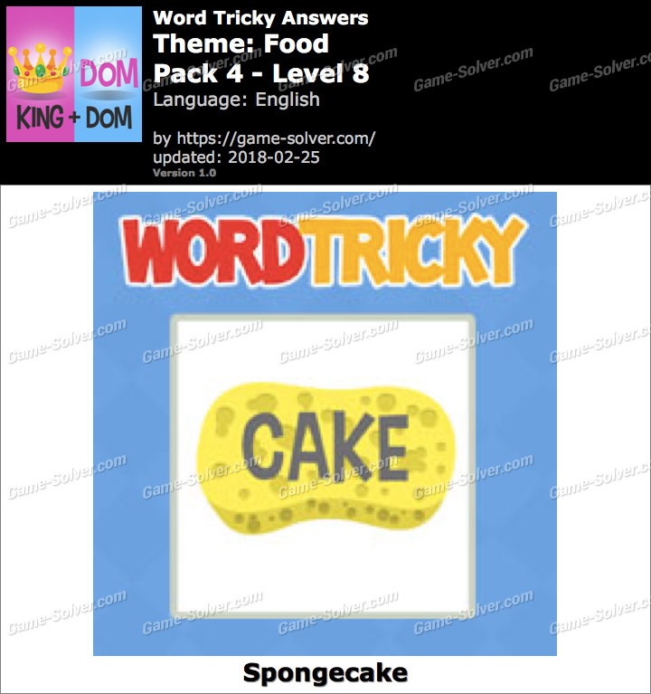Word Tricky Food Pack 4-Level 8 Answers