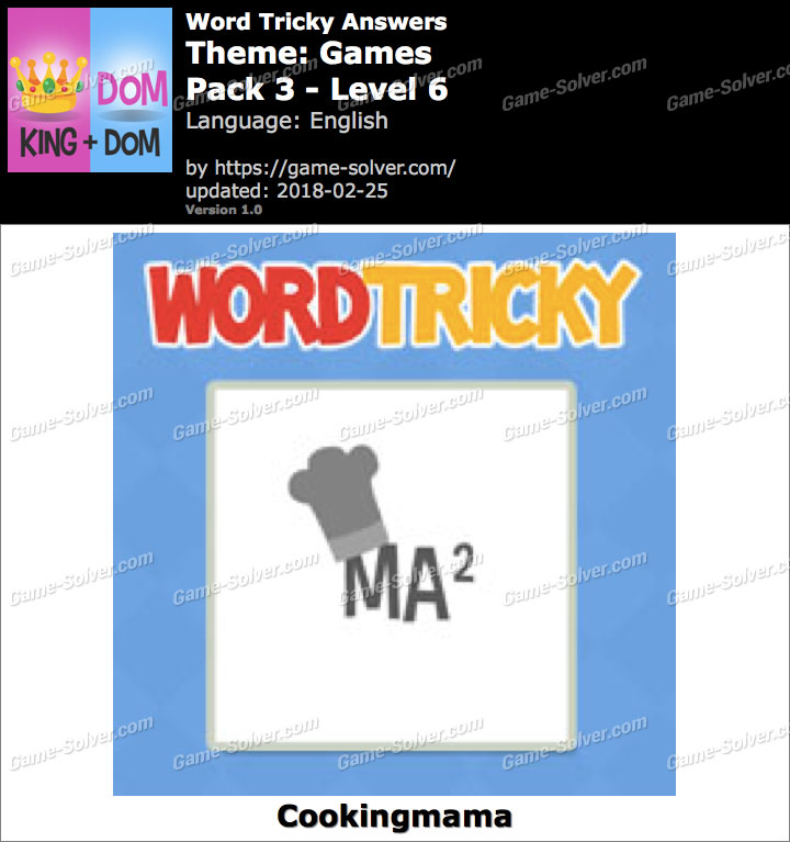 Word Tricky Games Pack 3-Level 6 Answers